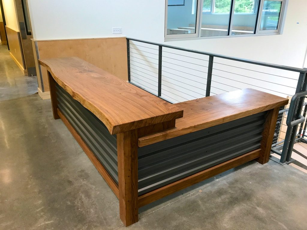 Barn Reception Desk in Elm