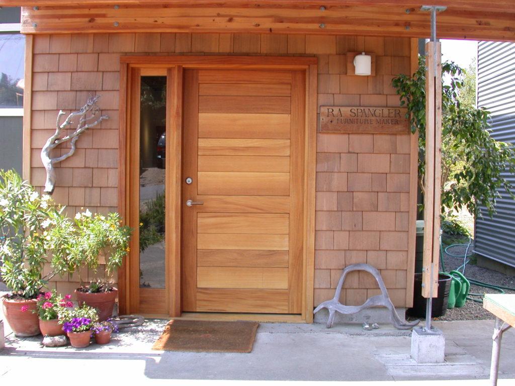Shop front door