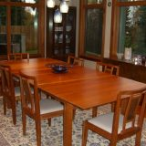 Cherry wood dining table